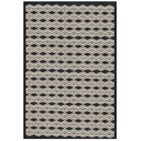 Agostina 36 X 24 inch Black and Neutral Area Rug, Wool and Cotton