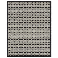 Agostina 120 X 96 inch Black and Neutral Area Rug, Wool and Cotton
