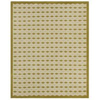 Agostina 120 X 96 inch Green and Neutral Area Rug, Wool and Cotton
