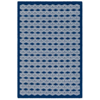 Agostina 36 X 24 inch Blue and Neutral Area Rug, Wool and Cotton
