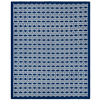 Agostina 120 X 96 inch Blue and Neutral Area Rug, Wool and Cotton