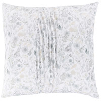 Aria 26 X 26 inch White and Green Euro Sham
