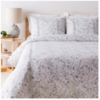 Aria White and Green Duvet Set in King/CA King, King or CA King