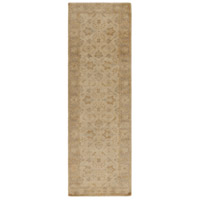 Ainsley 96 X 30 inch Neutral and Blue Runner, Wool