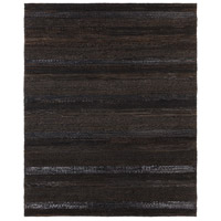 Aija 120 X 96 inch Black Area Rug, Leather and Cotton