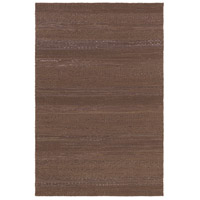 Aija 90 X 60 inch Brown and Black Area Rug, Leather and Cotton