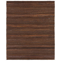 Aija 120 X 96 inch Brown and Black Area Rug, Leather and Cotton