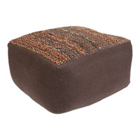 Aija 13 inch Brown Pouf