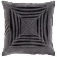 Akira 18 X 18 inch Charcoal Pillow Kit, Square
