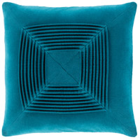 Surya AKA007-1818 Akira 18 X 18 inch Teal Pillow Cover, Square
