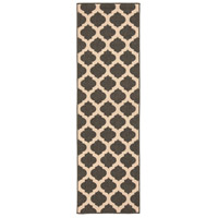 Alfresco 141 X 27 inch Black and Neutral Outdoor Runner, Polypropylene