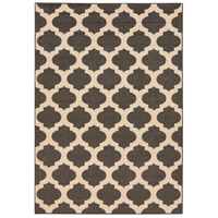 Alfresco 54 X 27 inch Black and Neutral Outdoor Area Rug, Polypropylene
