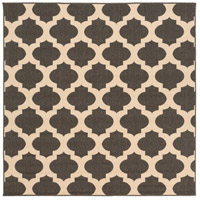 Alfresco 87 X 87 inch Black and Neutral Outdoor Area Rug, Polypropylene