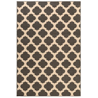 Alfresco 129 X 90 inch Black and Neutral Outdoor Area Rug, Polypropylene