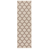 Alfresco 141 X 27 inch Neutral and Brown Outdoor Runner, Polypropylene