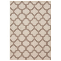 Alfresco 54 X 27 inch Neutral and Brown Outdoor Area Rug, Polypropylene