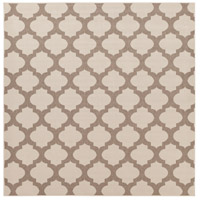 Alfresco 105 X 105 inch Neutral and Brown Outdoor Area Rug, Polypropylene
