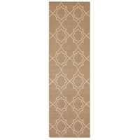 Alfresco 141 X 27 inch Brown and Neutral Outdoor Runner, Polypropylene