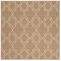 Alfresco 87 X 87 inch Brown and Neutral Outdoor Area Rug, Polypropylene