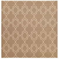 Alfresco 105 X 105 inch Brown and Neutral Outdoor Area Rug, Polypropylene