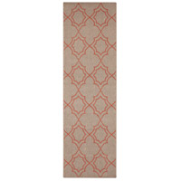 Alfresco 141 X 27 inch Brown and Red Outdoor Runner, Polypropylene