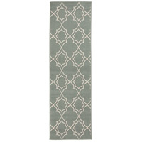 Alfresco 141 X 27 inch Green and Neutral Outdoor Runner, Polypropylene