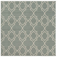 Alfresco 87 X 87 inch Green and Neutral Outdoor Area Rug, Polypropylene