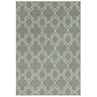 Alfresco 129 X 90 inch Green and Neutral Outdoor Area Rug, Polypropylene