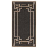 Alfresco 54 X 27 inch Black and Brown Outdoor Area Rug, Polypropylene