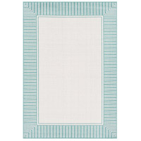 Alfresco 54 X 27 inch Teal Outdoor Area Rug, Rectangle