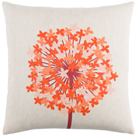 Agapanthus 20 X 20 inch Red and Orange Pillow Cover