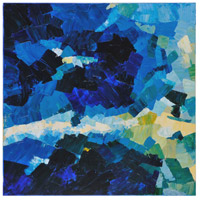 Surya ART1009-4040 Blue Waters 40 inch Painting, Square