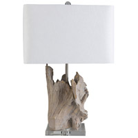 Surya White Linen Table Lamps