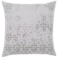 Abstraction 18 X 18 inch Light Gray Pillow Kit, Square