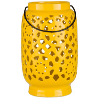 Surya AVR924-L Avery 11 X 7 inch Yellow Outdoor Decorative Lantern