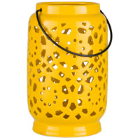 Avery 9 X 6 inch Yellow Outdoor Decorative Lantern