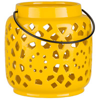 Surya AVR924-S Avery 7 X 6 inch Yellow Outdoor Decorative Lantern