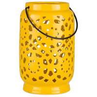 Avery 7 X 6 inch Yellow Outdoor Decorative Lantern