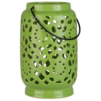 Avery 11 X 7 inch Green Outdoor Decorative Lantern