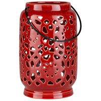 Surya AVR927-M Avery 9 X 6 inch Orange Outdoor Decorative Lantern