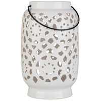 Surya AVR929-L Avery 11 X 7 inch White Outdoor Decorative Lantern