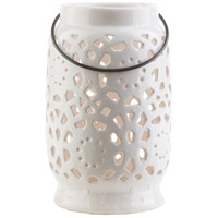 Surya AVR929-M Avery 9 X 6 inch White Outdoor Decorative Lantern