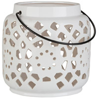 Surya AVR929-S Avery 7 X 6 inch White Outdoor Decorative Lantern