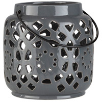 Surya AVR930-S Avery 7 X 6 inch Grey Outdoor Decorative Lantern