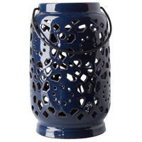 Surya AVR931-M Avery 9 X 6 inch Navy Outdoor Decorative Lantern