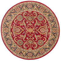 Surya AWHY2062-6RD Middleton 72 X 72 inch Bright Red/Charcoal/Mustard/Dark Brown/Olive/Tan Rugs, Round photo thumbnail