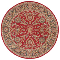 Surya AWHY2062-8RD Middleton 96 X 96 inch Bright Red/Charcoal/Mustard/Dark Brown/Olive/Tan Rugs, Round photo thumbnail
