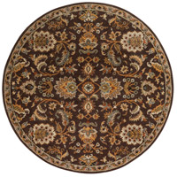 Surya AWMD1002-8RD Middleton 96 X 96 inch Dark Brown/Camel/Ivory/Olive/Teal/Mustard Rugs, Round photo thumbnail
