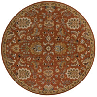 Surya AWMD1003-8RD Middleton 96 X 96 inch Rust Indoor Area Rug, Round photo thumbnail
