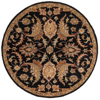 Surya AWMD2078-6RD Middleton 72 X 72 inch Black/Camel/Khaki/Medium Gray/Olive/Burgundy Rugs, Round photo thumbnail